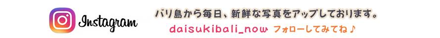 大好きバリ!!のインスタ。フォーローしてね!daisukibali_now